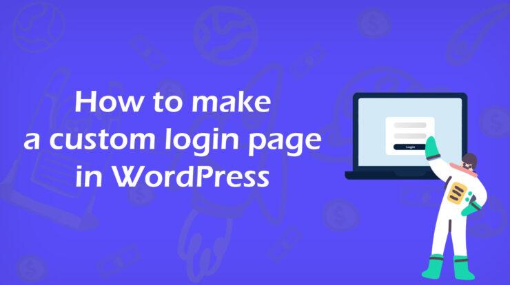 Custom login page in WordPress