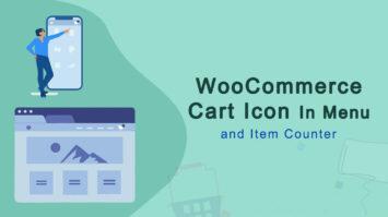 WooCommerce Cart Icon Menu