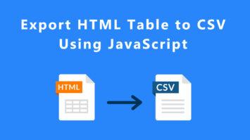export HTML to CSV using javascript